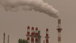 HD2009-6-7-24 smoke stacks and exhaust Footage