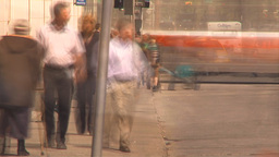HD2009-6-8-4 people and traffic TL Stock Video Footage