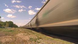 HD2009-6-8-10 frieght train TL trippy Stock Video Footage