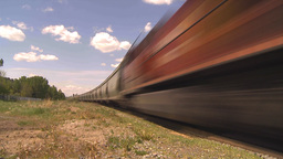 HD2009-6-8-10 frieght train TL trippy Stock Video Footage