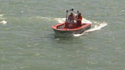 HD2009-6-8-18 fire rescue boat demo on peir Footage