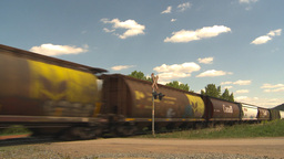 HD2009-6-8-22 frieght train Stock Video Footage