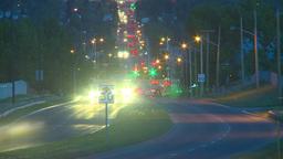 HD2009-6-8-24 traffic TL night Stock Video Footage
