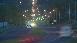 HD2009-6-8-24 traffic TL night Footage
