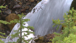 HD2009-6-9-17 water fall snow and green Stock Video Footage