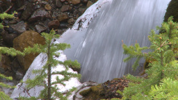 HD2009-6-9-17 water fall snow and green Footage