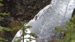 HD2009-6-9-19 water fall snow and green slowmo shutter Stock Video Footage
