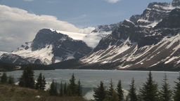 HD2009-6-9-39 Bow lake and glacier Z Stock Video Footage