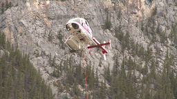 HD2009-6-11-26RC 60i Banff Heli rescue Stock Video Footage