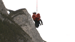 HD2009-6-11-28RC 60i Banff Heli rescue Stock Video Footage