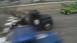 HD2009-6-12-1 Big rig race Stock Video Footage