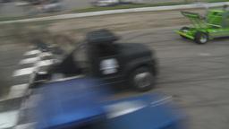 HD2009-6-12-1 Big rig race Stock Video Footage
