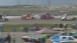 HD2009-6-12-3 Big rig race Stock Video Footage