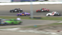 HD2009-6-12-9 stock car race Stock Video Footage