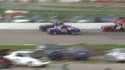 HD2009-6-12-9 stock car race Stock Video Footage