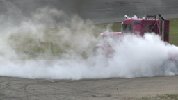 HD2009-6-12-13 Big rig burnout Footage