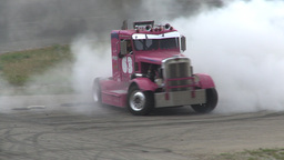 HD2009-6-12-13 Big rig burnout Stock Video Footage