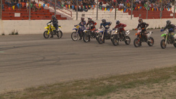 HD2009-6-12-17 motocross bike race Stock Video Footage