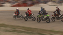 HD2009-6-12-17 motocross bike race Stock Video Footage