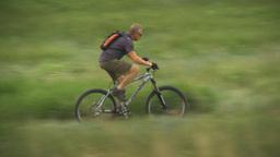 HD2009-6-17-1 Mtn bike rider LLL Stock Video Footage