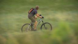 HD2009-6-17-1 Mtn Bike Rider LLL stock footage