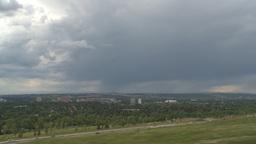 HD2009-6-18-1 storm cloud and traffic TL Footage