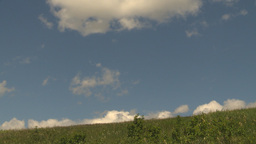 HD2009-6-18-5 cloudscape and hill TL Stock Video Footage