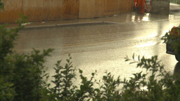 HD2009-6-19-1 rainy traffic Stock Video Footage