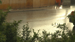 HD2009-6-19-1 rainy traffic Stock Video Footage