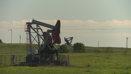 HD2009-6-19-3 pumpjack Stock Video Footage