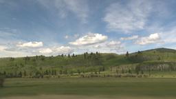 HD2009-6-19-29b drive along hills Stock Video Footage