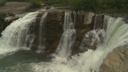 HD2009-6-19-35 Lundbreck falls Stock Video Footage