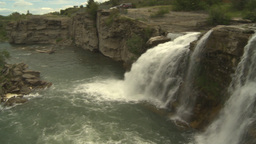 HD2009-6-20-1 Lundbreck falls Stock Video Footage