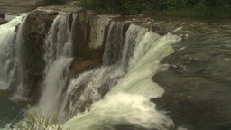 HD2009-6-20-3 Lundbreck falls Stock Video Footage