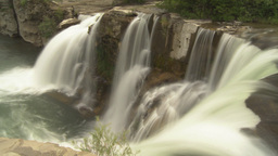 HD2009-6-20-5 Lundbreck falls effect Stock Video Footage