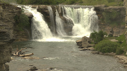 HD2009-6-20-13 Lundbreck falls Stock Video Footage