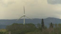HD2009-6-20-15 single wind turbine Stock Video Footage