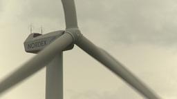 HD2009-6-20-19 wind turbines on ridge Z Stock Video Footage
