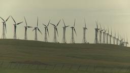 HD2009-6-20-29 wind turbines on ridge Stock Video Footage