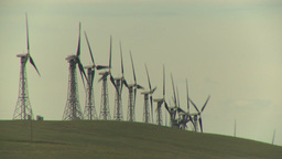 HD2009-6-20-31 wind turbines on ridge Footage