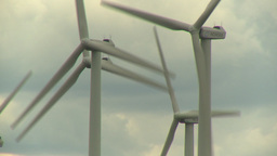 HD2009-6-20-33 wind turbines CU Stock Video Footage
