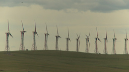 HD2009-6-20-35 wind turbines on ridge Footage