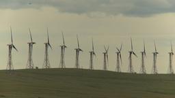 HD2009-6-20-35 wind turbines on ridge Footage