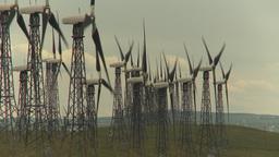 HD2009-6-20-37 wind turbines on ridge Stock Video Footage