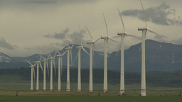 HD2009-6-20-53 wind turbines Stock Video Footage