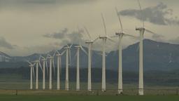 HD2009-6-20-53 wind turbines Stock Video Footage