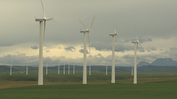 HD2009-6-20-55 wind turbines Stock Video Footage