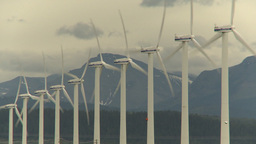 HD2009-6-20-57 wind turbines Stock Video Footage