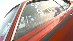 HD2009-6-21-3 walk about 72 Duster drag Stock Video Footage