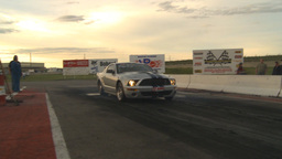 HD2009-6-21-11 Mustang burnout Stock Video Footage